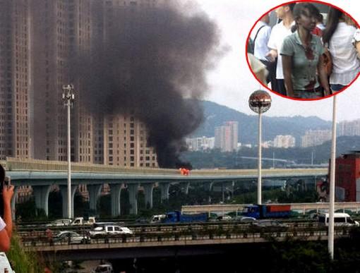 bus-fire-xiamen-china