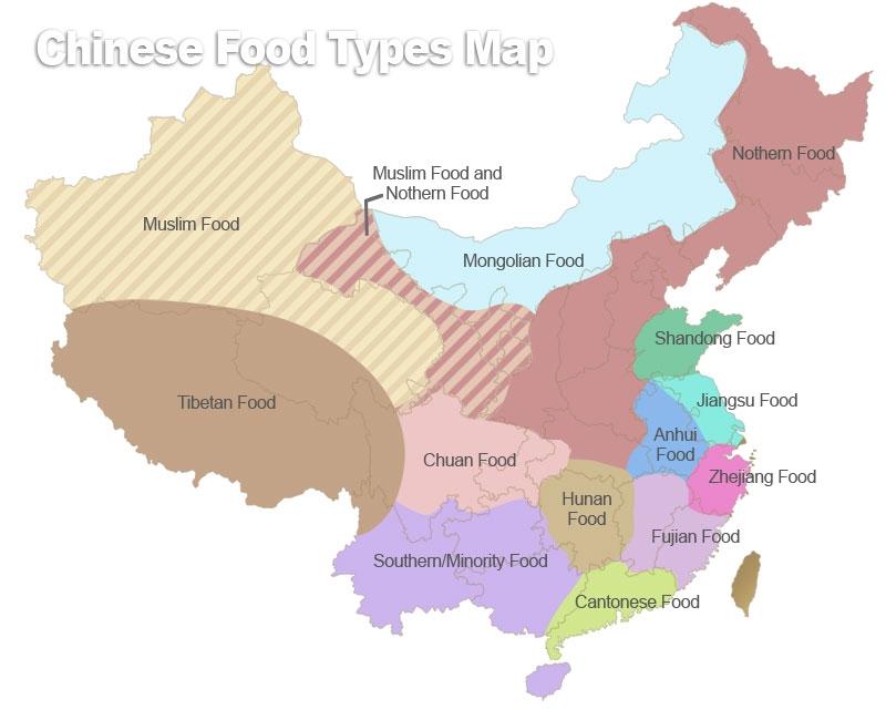 Podział kulinarny pokrywa się w dużym stopniu z podziałem etnicznym, ale wykracza poza granice narodowościowe.