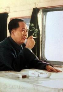 Mao Tse Tung on a train. 1968