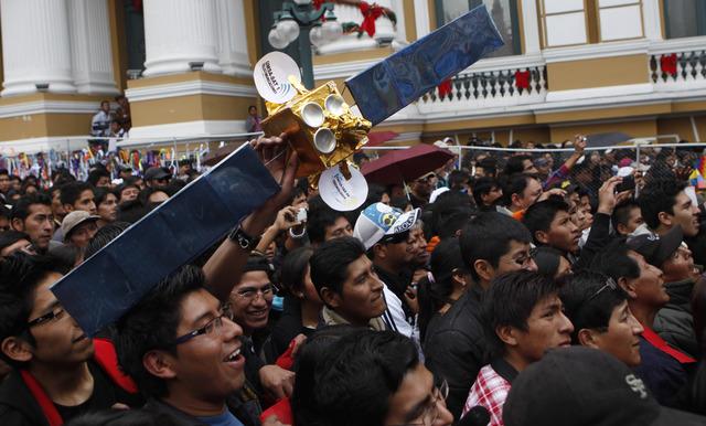 APTOPIX Bolivia Satellite
