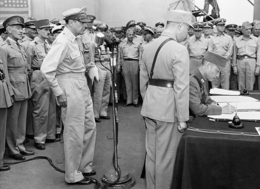 Japanese Surrender on USS