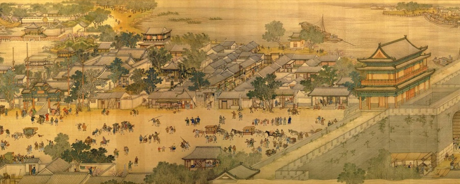 Along-the-River-During-Qingming-Festival-Silk-Painting